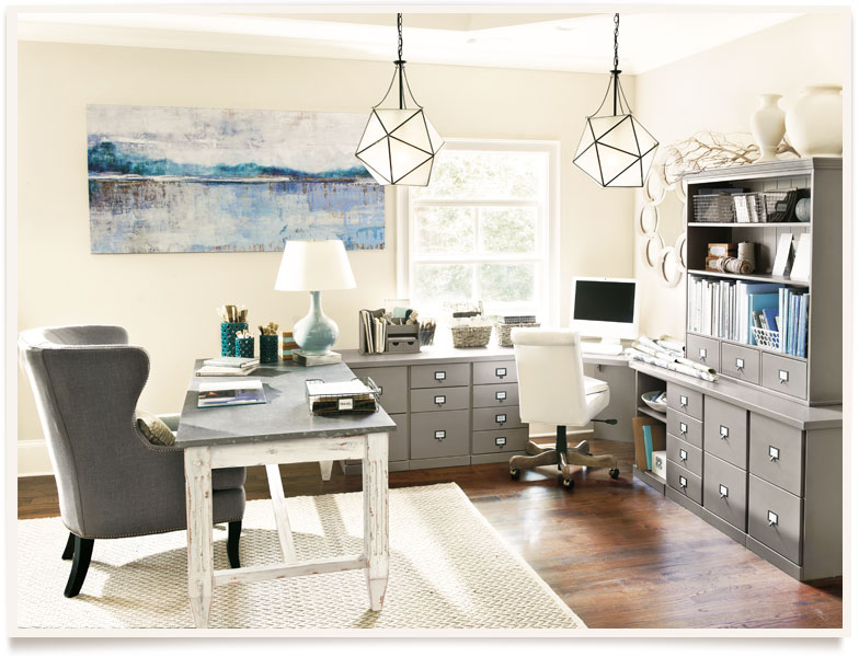 serenity in a home office